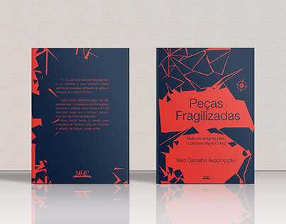 Peças Fragilizadas - book design and cover.