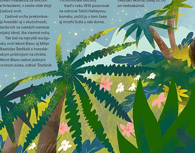 Illustration for Children´s Magazine Slniečko (05/19)
