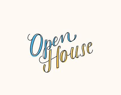 Open House Artwork + Print Pieces
