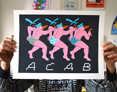 Acab poster / screenprint