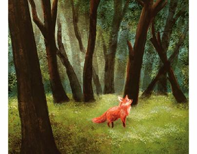 Lil Red Fox Illustration
