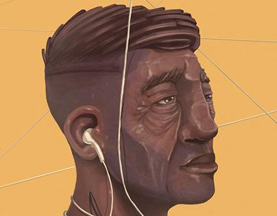 Listen Son/ digital painting using Procreate