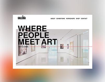 La Galería - Concept Web Design
