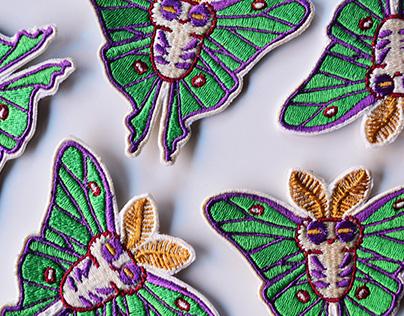Luna Moth - Patch design