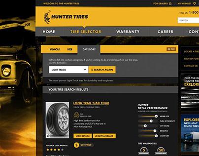 Hunter Tire: Website Design