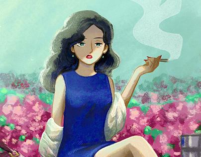 """Moving Illustration """"Cigarette"""""""