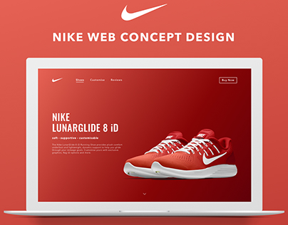 Nike Lunarglide 8 iD - Concept Product Page Design