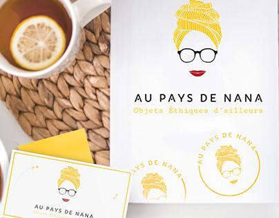 Logo & visual identity Au Pays de Nana