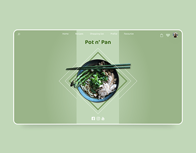 Responsive website for cooking magazine