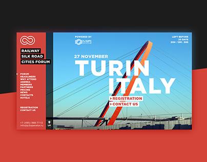 Railway Silk Road Cities Forum web-site design