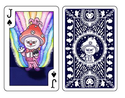 PLAYING CARD DESIGN (Joker Mushroom)