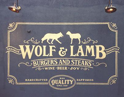 Wolf & Lamb Wall Mural