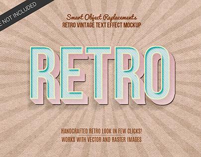 Vintage Retro Text Mockup