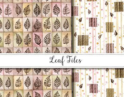 Leaf Tiles Pattern Design