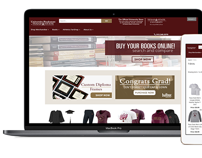 University Bookstore at Texas State - Responsive Site