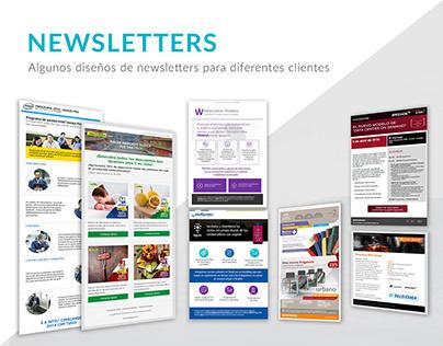 Newsletters para diferentes clientes