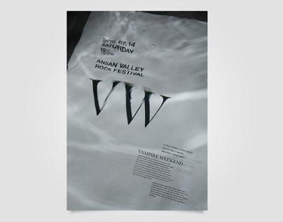 Vampire Weekend Typeface Poster