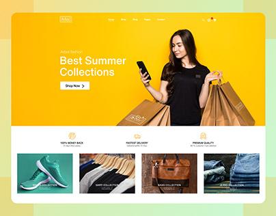Arbor Fashion Website Ui Design