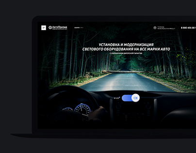 Landing Page of Car Light Service