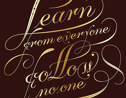 Learn from everyone poster