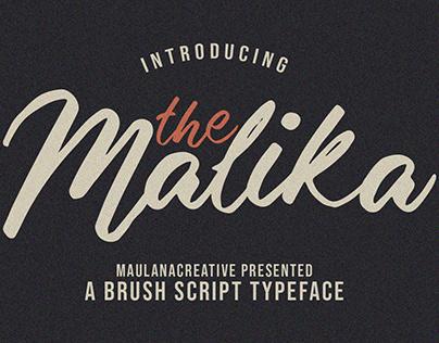 Malika Brush Script Typeface