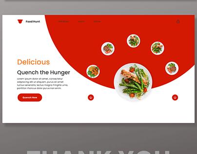 Food Hunt web design
