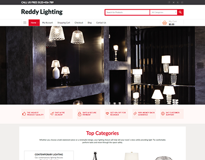 Reddy Lighting Website Design and Development