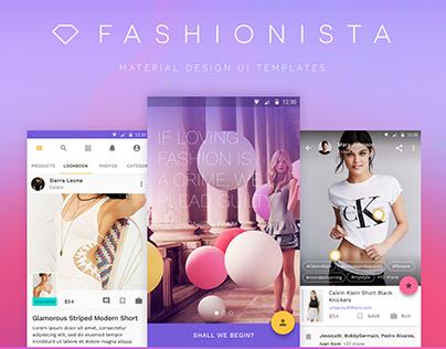 Fashionista – Material Design UI Kit