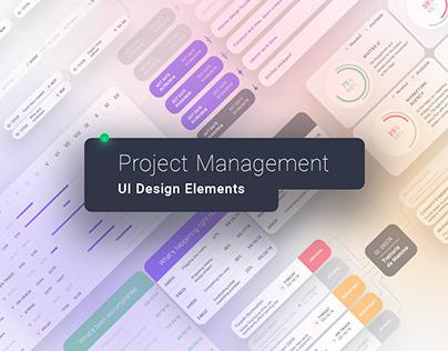 Project Management UI Design Elements