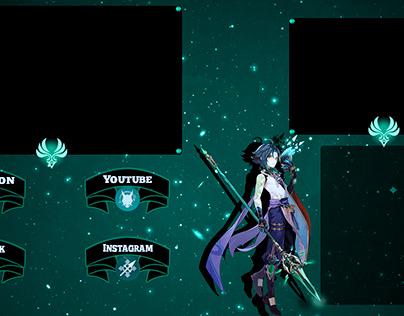 Pack para Stream Tema: Genshin Impact personagem: Xiao