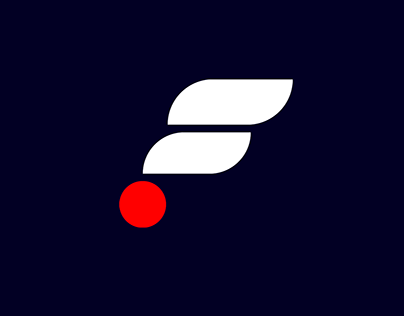 letter F logo for an airline