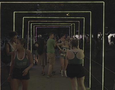 Shaky Beats LED Tape Tunnel