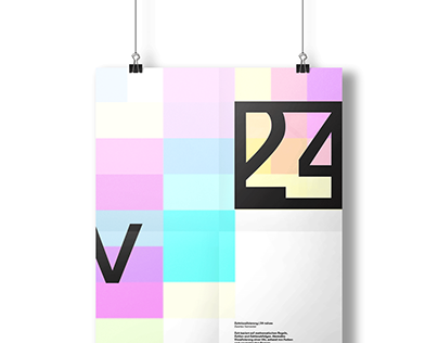 visualsing time: 24 values — squares & harmony