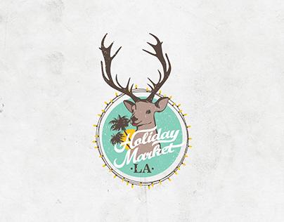 Holiday Market LA Logo Design