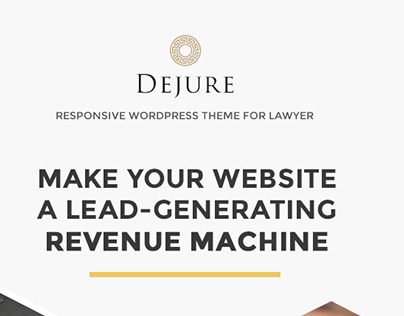 DEJURE Responsive Wordpress Theme For Lawyer