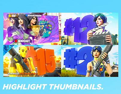 3D Highlight Thumbnails