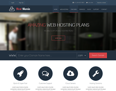 HostMania - Hosting Theme Design