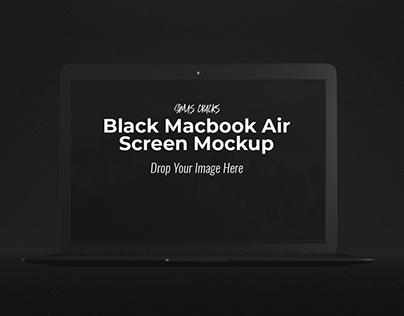 Black MacBook Air Mockup