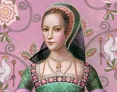 Anne Boleyn Six Tudor Queens Cover Art portrait
