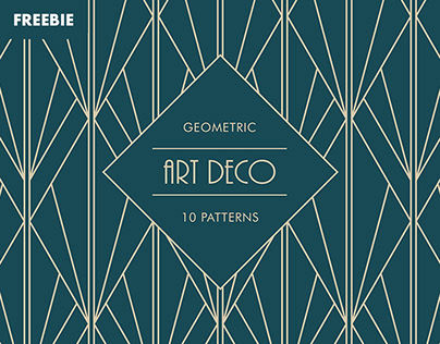 Free Download: Art Deco Geometric Patterns