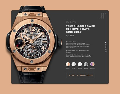 Hublot Product Detail Page