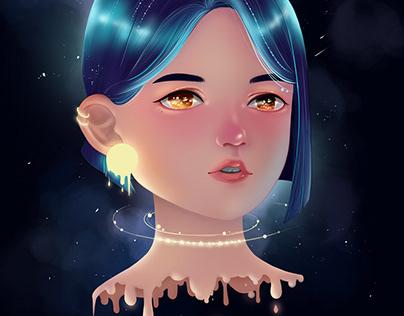 Portrait - Melting Blue