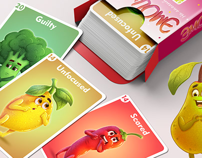Children's card game for learning emotions in English