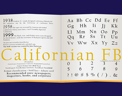Type Poster: Californian FB