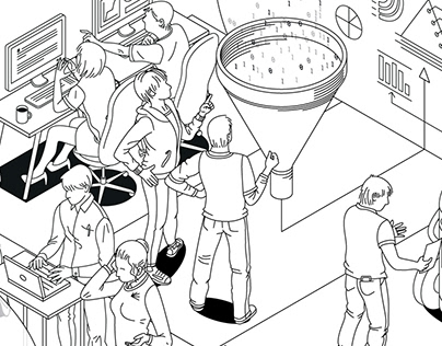 """Digital Experience"" Illustration for SIILI Agency"