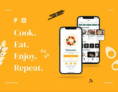 Cookbook Mobile App - Recipes, Cooking, Blog