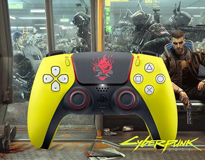 Cyberpunk 2077 PS5 DualSense Controller Concept