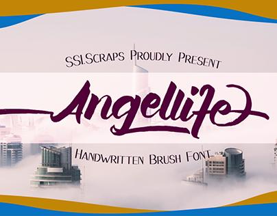 Angellife Handwritten Brush Font