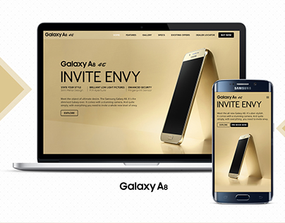 Galaxy A8 Product Microsite