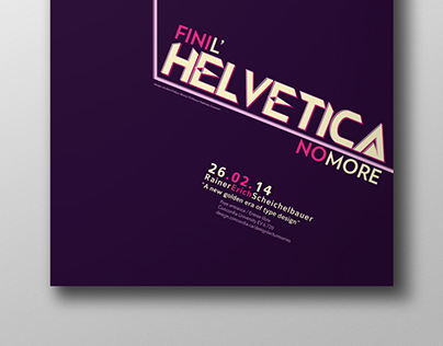 Helvetica No More // Poster